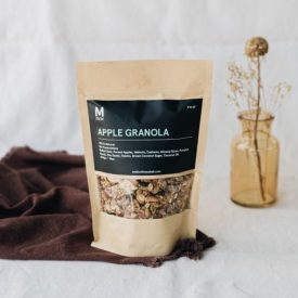 apple granola motion fitness food