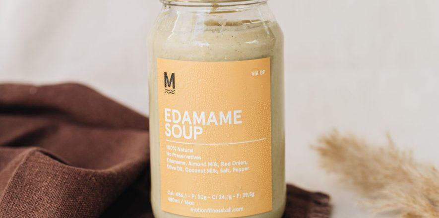 motion fitness food edamame soup